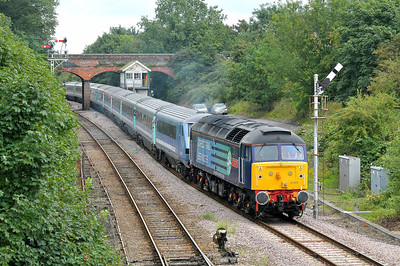 Class 47 No 47810 at Reedham on 6 August 2011 with the 1V43 Great Yarmouth - Liverpool Street (running 2 min late)