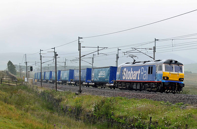 Class 92 No 92017 at Scout Green on 16 July 2011 with the 4S43 07:16 Daventry - Mossend (running 2 min early)