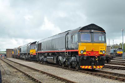 Class 66 No 66412 at Carlisle Kingmoor Depot 16 July 2011