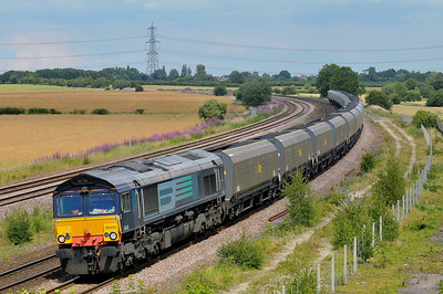 Class 66 No 66403 at Burton Salmon on 9 July 2011 with the 6Z93 Tyne Dock - Drax Power Station