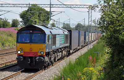 Class 66 No 66416 at Acton Bridge on 14 July 2011 with the 4S44 12:16 Daventry - Coatbridge (running 5 min late)
