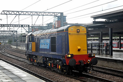 Class 20 No 20308 at Leeds Station on 8 June 2011