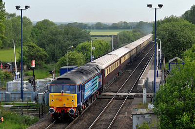 Class 47 No 47810 at Sherburn-in-Elmet on 21 May 2011 on the rear of the 1Z45 05:40 Leicester - Edinburgh Park