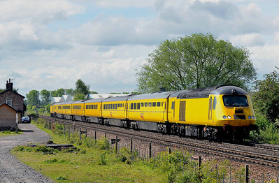 NMT Class 43 No 43014 at Sherburn-in-Elmet on 14 May 2011 with the 1Q28 08:32 Derby RTC - Heaton C.S. (running 28 min early)