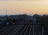At 16:15 the sun was about to set as the corresponding westbound service (Nottingham 13:08) raced towards Cardiff (arrival 16:25).