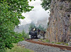 We headed off to Tanygrisau and a shot of the Earl as it pounded past the Festiniog Power Station with its heavy train.