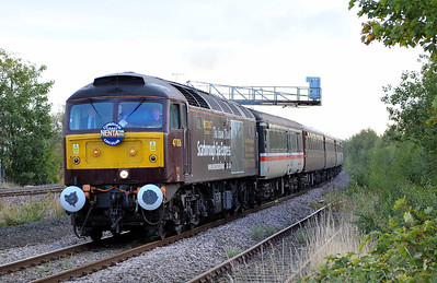 Class 47 No 47826 at Horbury Junction on 17 September 2011 with the 1Z84 04:00 Norwich - Carlisle charter (running 1 min early)