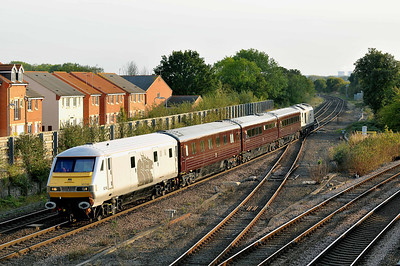 Mk 3 DVT No 82146 at Church Fenton on 15 September 2011 with the 1Z05 15:35 Toton TMD - York (running 1 min early)