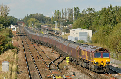 Class 66 No 66167 at Milford Junction on 15 September 2011 with the 6V66 12:07 Redcar OT - Margam TC (running 30 min late)