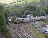 66090 picked up the empties at Carne Point for return to Goonbarrow (6G07). The junction at Lostwithiel faces towards London, requiring the china clay trains to reverse, 66090 is entering the down loop.