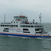 Wight Sky crosses the Solent with a Wight Link car ferry.
