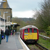 Former 38ts, Class 483 unit 007 at Shanklin with a train to Ryde Pier Head.