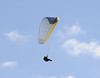 A hang glider in action, just a few feet above my head.