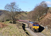66041 is mainly applying braking power as the train descends at a very sedate 20 mph.