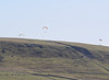 The upper reaches of the Taf Bargoed valley are a haunt for hang gliders
