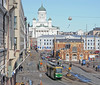 One advantage of Helsinki's trams is that they take you to many of the tourist sites, like the Cathedral and the Parliament building.