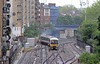 From the steps of the Danubius Hotel, a trio of Chiltern units heading to Wembley depot.