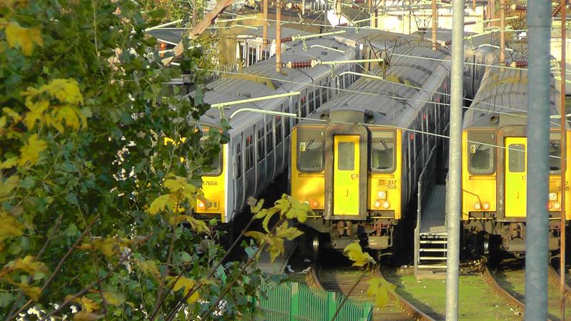 317658, 317508 & Class 317 - Chingford Sidings