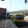 323205 departs Smethwick Rolfe Street for Wolverhampton.