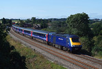 FGW 43151 & 43139 is seen passing pontefract with 1Z43 'The Cotswold-Ouse Express'.15/09/2012.Fuji s3 pro.
