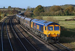 A lovely clean GBRf 66703 heads through New Barnetby for immingham.02/11/2012.Fuji s3 pro.