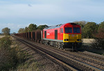 Returning to immingham 60017 passes Elsham with 6K26.02/11/2012.Fuji s3 pro.