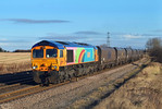 66720 Passes Burton salmon in charge of 6H93 Tyne-Drax.01/12/2012.Fuji s3 pro.