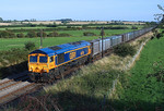 GBRf 66728 'Institution of Railway Operators' Heads north in charge of 4E19 Gypsum at Hougham.06/09/2012.Fuji s3 pro.