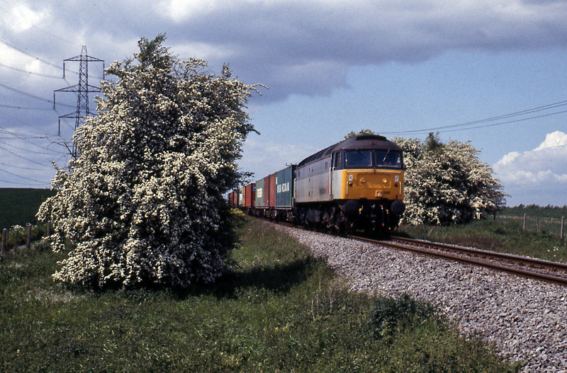 On June 1st the 4O86, Crewe to Grain passing Cliffe on the Grain branch. Today trains to Thamesport are a thing of the past as shipping companies have migrated to the new DP World London Gateway port on the Thames.