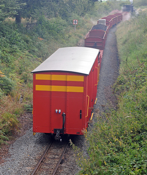 The brake van along with some of the box wagons was shipped from South Africa earlier this year.