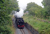 The north end of the line is less photographed than the south end or the middle, mountain section. Passing Tryfan Junction (the restored station  building is to the right of the train) 87 on the 12:45 ex-Porthmadog
