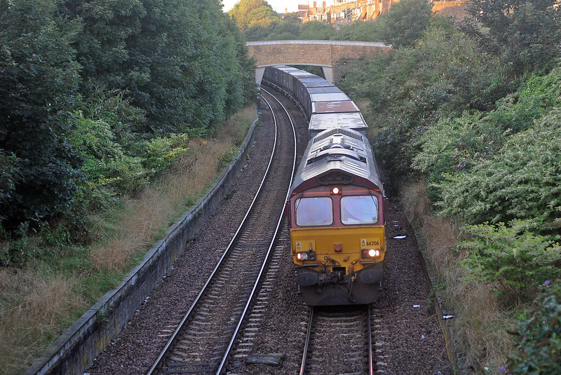 ...66206 on the 7L23, running a little late at 07:05