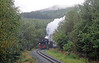 Some 30 minutes later 87 is climbing through the Beddgelert Forest on the ascent to Pitts Head Summit. The line loops its way through the woods, twisting and turning. Listening to the locomotive is mesmerising as the sound seems to come from all points of the compass