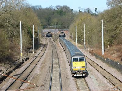 Purfleet, Hadley Wood, Elstree, Watford Tunnels & Harpenden (04-02-2013)