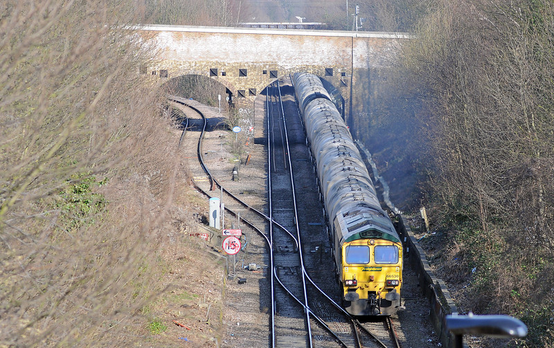 The 172 was followed, at 14:18 by the 6M92 empty cement tanks going back to Earles.