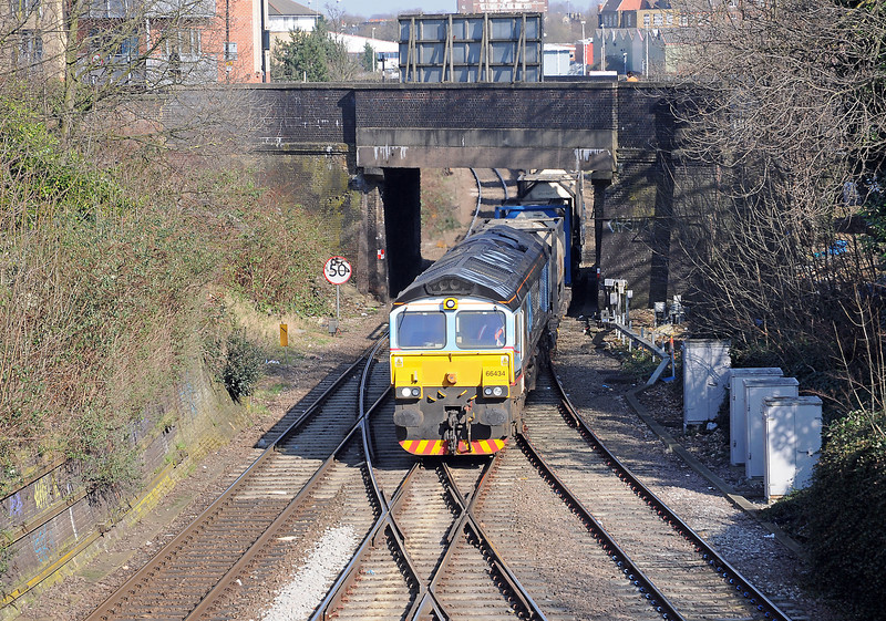 A quick run round to Dartmouth Park Hill, the bridge in the background of the previous picture, and 66434 on the 4M71...