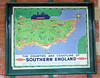 Kingscote is presented as it would have looked in the 1950s before closure, here is a great early BR poster extolling the coastline andcountryside of Southern England, very much in the style of the Southern Railway.