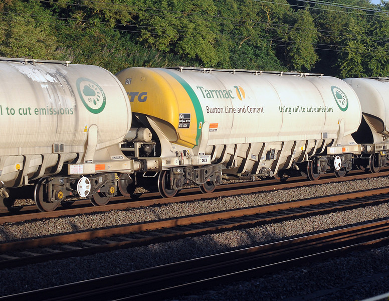 The Tarmac cement hoppers are impressive wagons.
