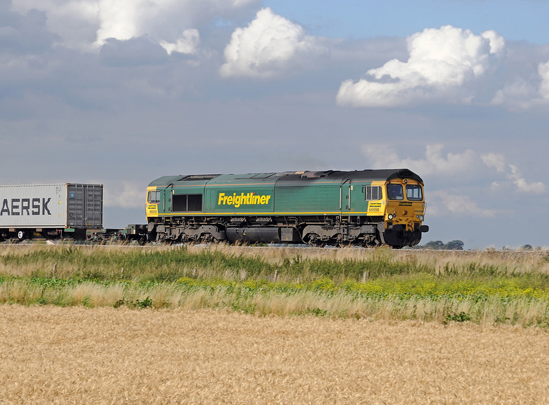 66556 races towards the Ouse Washes