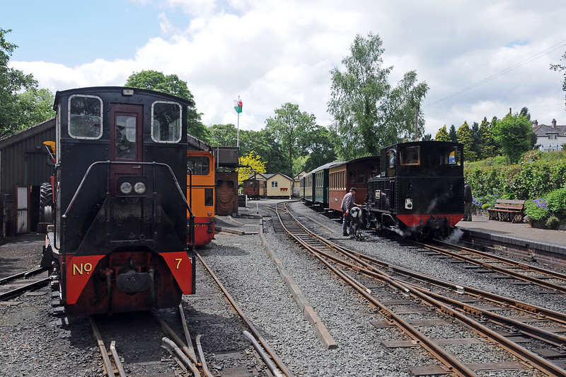 Llanfair is the railway's headquarters, Earl adds a couple of four wheel end balcony cars, one ex-Zillertalbahn, the other ex-Salzkammergut Lokalbahn, to the MAV coaches