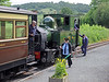 At Cyfronydd we passed the vintage train behind sister engine 823, Countess. Everyone is smiling and seemingly having a good time.
