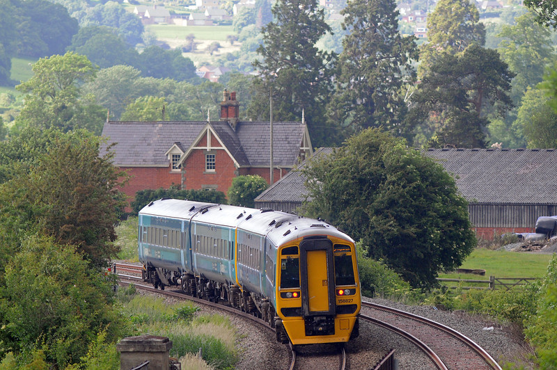 ...on time for its 17:01 arrival in Welshpool
