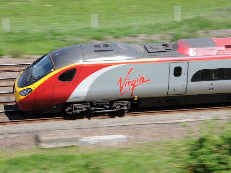 I don't much like the Virgin Pendolinos to travel in but they are quite visually arresting, particularly when tilting round curves at 100 mph plus.