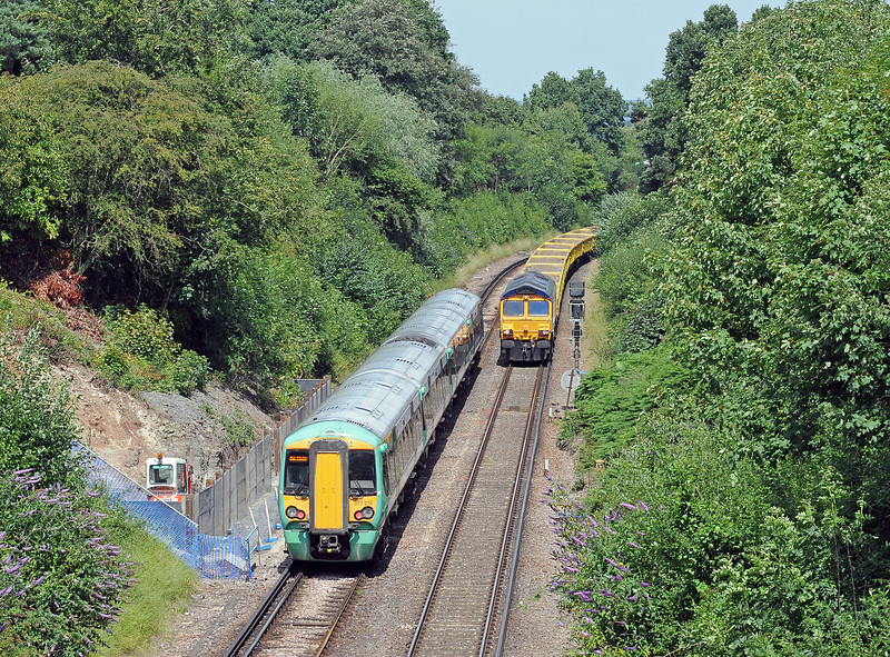 …377213 leaves East Grinstead on the 13:37 to Victoria