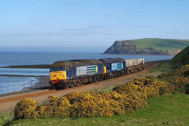 Early morning at St Bees see's 57007/011 in charge of 6C24.17/05/2013.Fuji s3 pro.