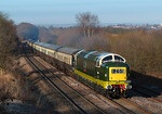 Early morning see's Deltic D9009 'ALYCIDON' power her way through Welbeck in charge of 1Z55 Crewe-Edinburgh pathfinder rail tour.Another half a hour and the light would of been better.06/04/2013.Fuji s3 pro.