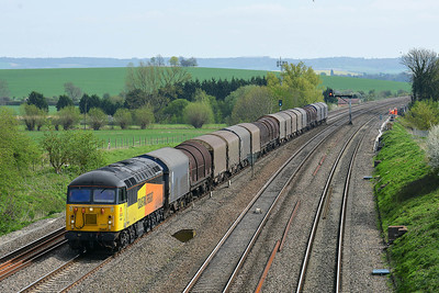 Class 56 No 56302 at South Morton on 9 April 2014 with the 6V62 11:12 Tilbury Riverside – Llanwern Exchange Sidings