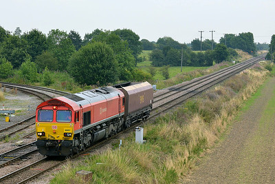Class 66 No 66097 at Whitley Bridge on 1 August 2014 with the 4K77 11:45 Drax Power Station – Milford West Sidings