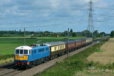 Class 86 No 86259 at Joan Croft Junction on 9 August 2014 with the 1Z05 07:18 Edinburgh – London Kings Cross