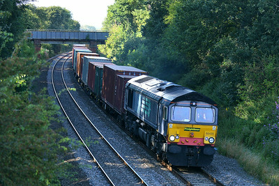 Class 66 No 66420 at Kings Sutton on 13 August 2014 with the 4O17 15:48 Lawley Street F.L.T. - Southampton M.C.T.